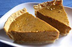 Alicia Silverstone's Vegan Pumpkin Pie made with tofu