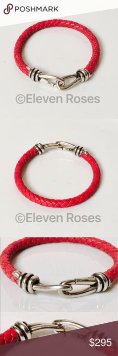 Tiffany & Co Paloma Picasso Braided Knot Bracelet Tiffany & Co. Paloma Picasso Braided Knot Bracelet - 925 Sterling Silver - Red Braided Leather - Exact Size As Shown - Preowned / Preloved   May Show Slight Signs Of Having Been Worn.    Listing Images Are Of Actual Item Being Offered Tiffany & Co. Jewelry Bracelets