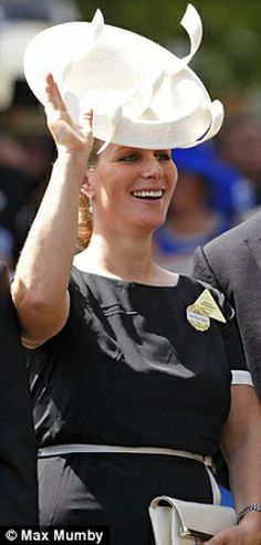 Zara Phillips Tinall, June 17, 2014 in Philip Treacy | Royal Hats..... Royal Ascot Day 1: The British Royal Family....Posted on June 18, 2014 by HatQueen