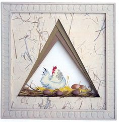 Blog Aquareve-chantal | Mon actualité Picture Frame Crafts, Picture Frames, Asian Cards, Girl Birthday Cards, Iris Folding, Newspaper Crafts, Card Patterns, Frame It, Felt Art