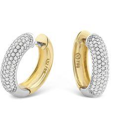 Brinco Ouro Amarelo Ouro Branco e Diamante Lumiére