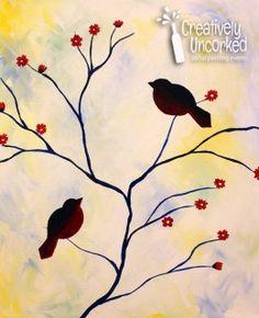 Spring Birds | Creatively Uncorked | http://creativelyuncorked.com