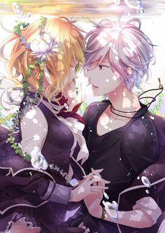 MSM eu n gostando mt desse anime (diabolik lovers), por conta da sua historia que eu n achei legal por que ela só serve de comida e não rola romance nenhum em seu anime ,eu achei fofo essa imagem❤