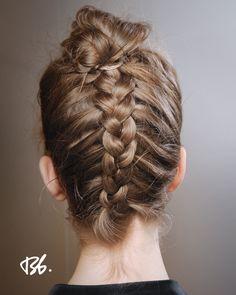 Whimsical Runway Hairstyles  Serafini Amelia  Fall/Winter Fashion Week. Hair by Bb.  Stylist James Pecis.