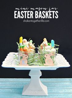 Mini Mason Jar Easter Baskets