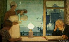 Frederick Cayley Robinson - The Day of Rest, c.1926 (73,0 x 45,0 cm)