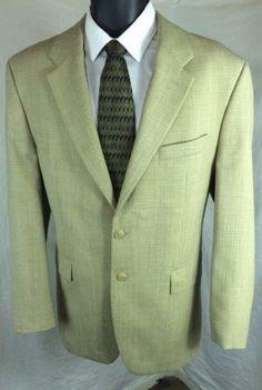 Men's Ralph Lauren Plaid Sport Coat 100% Virgin Wool Suit Jacket | 42R Free Tie