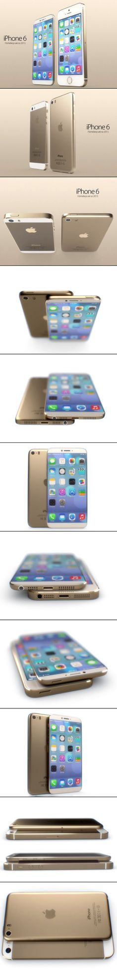 Here is a first look at the iPhone 6, which comes without a home button, but features a larger 4.8in. screen.