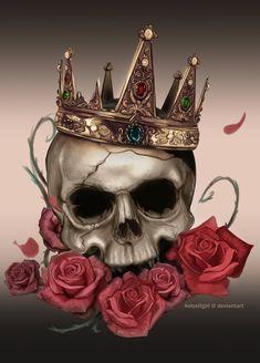 Skull saturated by HolyElfGirl.deviantart.com on @DeviantArt