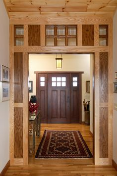 31 Popular Mission Style Door Design Ideas For Your Home Craftsman Style Doors, Craftsman Interior, Craftsman Homes, Craftsman Kitchen, Arts And Crafts Interiors, Arts And Crafts Furniture, Style At Home, Door Design, House Design