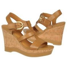My new Franco Sarto Women's Sonoma cork wedge - Camelot Leather  SO COMFY!