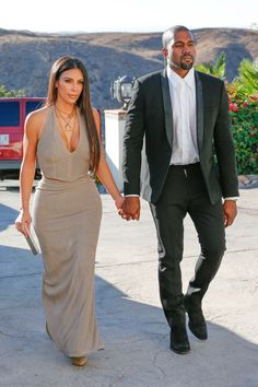 Kim & Kanye arriving at a wedding in Simi Valley, CA - September 23, 2016