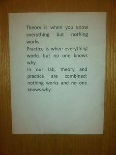 Meanwhile, at my lab...LOL!