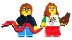 LEGO Nerd Boy / Girl Minifigures Red Hair Spaceman/Striped Shirts Frog/Snake  #LEGO Lego For Sale, Lego Custom Minifigures, Striped Shirts, Lego Group, Lego News, Lego Parts, Cool Lego, Indiana Jones, Pirates Of The Caribbean