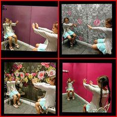Adoro i camerini dei negozi  #family #divertente #gioco #kids #collage