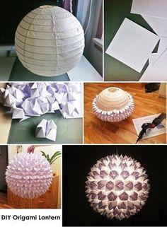 """Papierlampe """"Origami"""" (Bild: allidesign)"""