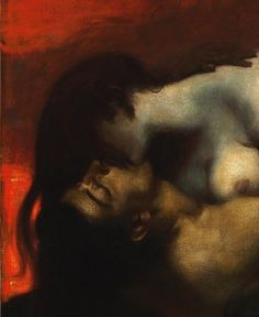 blank-reality: Franz von Stuck - The Kiss of the Sphinx (1895) Always…