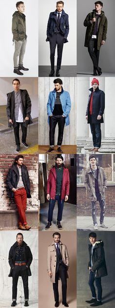 Men's Lightweight Raincoats - Transitional Season Outfit Inspiration Lookbook