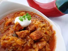 Hungarian Recipes, One Pot Meals, Food Art, Curry, Food And Drink, Chicken, Meat, Cooking, Ethnic Recipes
