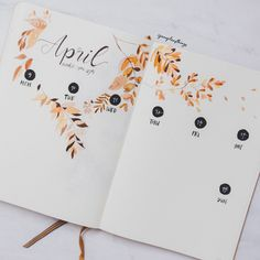 |¤| MadebyPernille: This is a cute floral idea for a weekly bullet journal spread