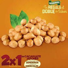 Hoy es miércoles de #2x1 en cacahuate japonés. Te esperamos en sucursal #Senderos, #Torreón para que disfrutes de su inigualable sabor. 😉