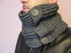See related links to what you are looking for. Crochet Mens Scarf, Crochet Scarves, Crochet Shawl, Knit Crochet, Knitting Patterns, Crochet Patterns, Cowl Scarf, Crochet Woman, Neck Warmer