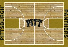 Pittsburgh Panthers Home Court Rug in Pittsburgh Panthers (Lane Color: Gold) from ACWG