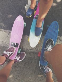 bff, cali, colorful, fade, friends, penny board, photography, shoes, soft grunge, teenagers, tumblr, vans, cali life
