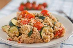 Couscous Salat mit Zucchini und Tomaten