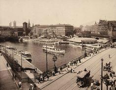 Max Missmann: Jannowitzbrücke mit Blick Richtung Waisenhaus. © Stadtmuseum Berlin