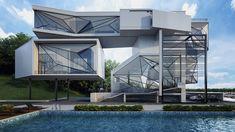 Urban Office Architecture - Aviator's villa  Matériaux: Pièces d'avions recyclées