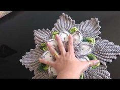 Crochet Tablecloth Pattern, Crochet Basket Pattern, Crochet Chart, Diy Crochet, Crochet Doilies, Crochet Flowers, Crochet Stitches, Doily Patterns, Macrame Patterns