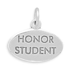Sterling Silver Honor Student Charm by jewelrymandave on Etsy