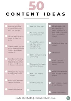 Check out these social media content ideas for network marketers. A list of 50 different post ideas you can edit for your network marketing business, to share with your audience via social media. Facebook Content, Social Media Content, Social Media Tips, Social Networks, Social Media Calendar, Social Media Management, Social Media Posting Schedule, Social Media Images, Marketing Trends