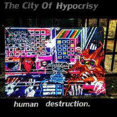 "''The City Of Hypocrisy- Human Destruction"". Henna Plant, Dry Leaf, Destruction, Colorful Fashion, Tattoo Designs, My Arts, My Love, Painting, Style"