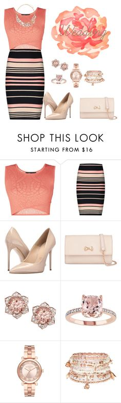 """""""Wedding"""" by salahmariamghazaly on Polyvore featuring BCBGMAXAZRIA, Miss Selfridge, Massimo Matteo, Ted Baker, Michael Kors and Accessorize"""