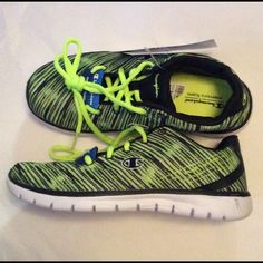 18bc55ca1b7 Champion Woman s Sneakers Black Lime Print NIB NWT