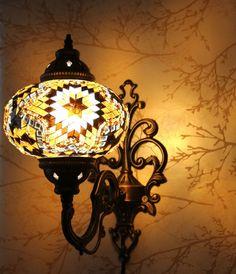 Vanity Lamp - Amber Burst