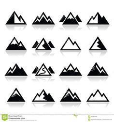 mountain-icons-set-vector-landscape-white-45082446.jpg (1300×1390)