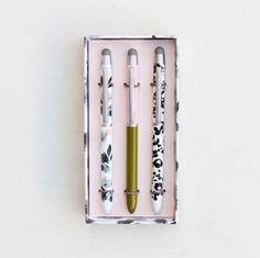 Gorgeous Gift Idea ❤️ /'Golden Hearts/' Caroline Gardner Boxed Ballpoint Pen