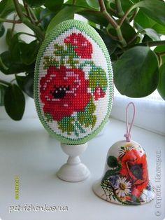 """Яйцо сувенирное """"Маков цвет"""" фото 5"""