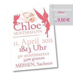 Geburtsposter - STILecht Grafik- & Fotodesign