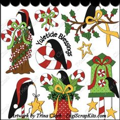 Christmas Crows 1 Clip Art: http://digiscrapkits.com/digiscraps/index.php?main_page=product_info&cPath=434_435&products_id=8347 #TrinaClark #DigiScrapKits