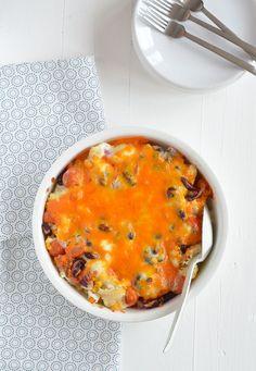 Oerhollandse bloemkool met een Mexicaanse twist uit de oven - Mexican loaded cauliflower casserole