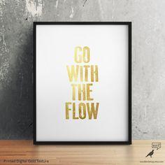 Go With The Flow Print by WordBirdShop