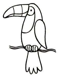toucan coloring page - Google Search