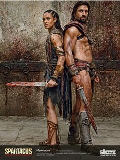 Crixus and Naevia Spartacus.it's a beautiful thing. I miei bimbi belli Liam Mcintyre, Movie Shots, 2 Movie, Spartacus Series, Barbarian Movie, Gods Of The Arena, Roman Gladiators, Manu Bennett, Swords