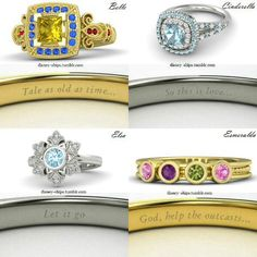 I want all of them! Disney princess rings!