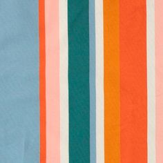 Stretch jersey multi coloured stripes - Stoff & Stil. Great for shirts, tops, blouses, pants and skirts!