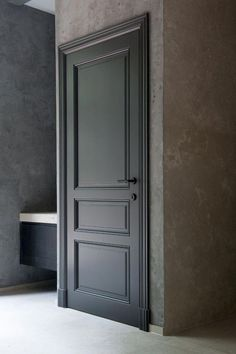 When you need a truly dramatic, dramatic look, nothing is more dramatic than the use of black interior doors. Black doors give you the kind of feel that . Interior Door Styles, Black Interior Doors, Door Design Interior, Wooden Interior Doors, Interior Panel Doors, Room Door Design, Dark Doors, Windows And Doors, Front Doors